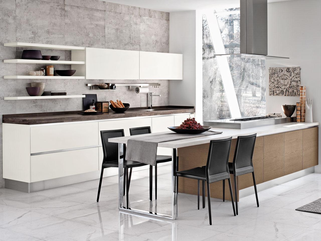 Cucina Brava Lube : Cucina lube brava rovere caffè bianco arredamenti papa a