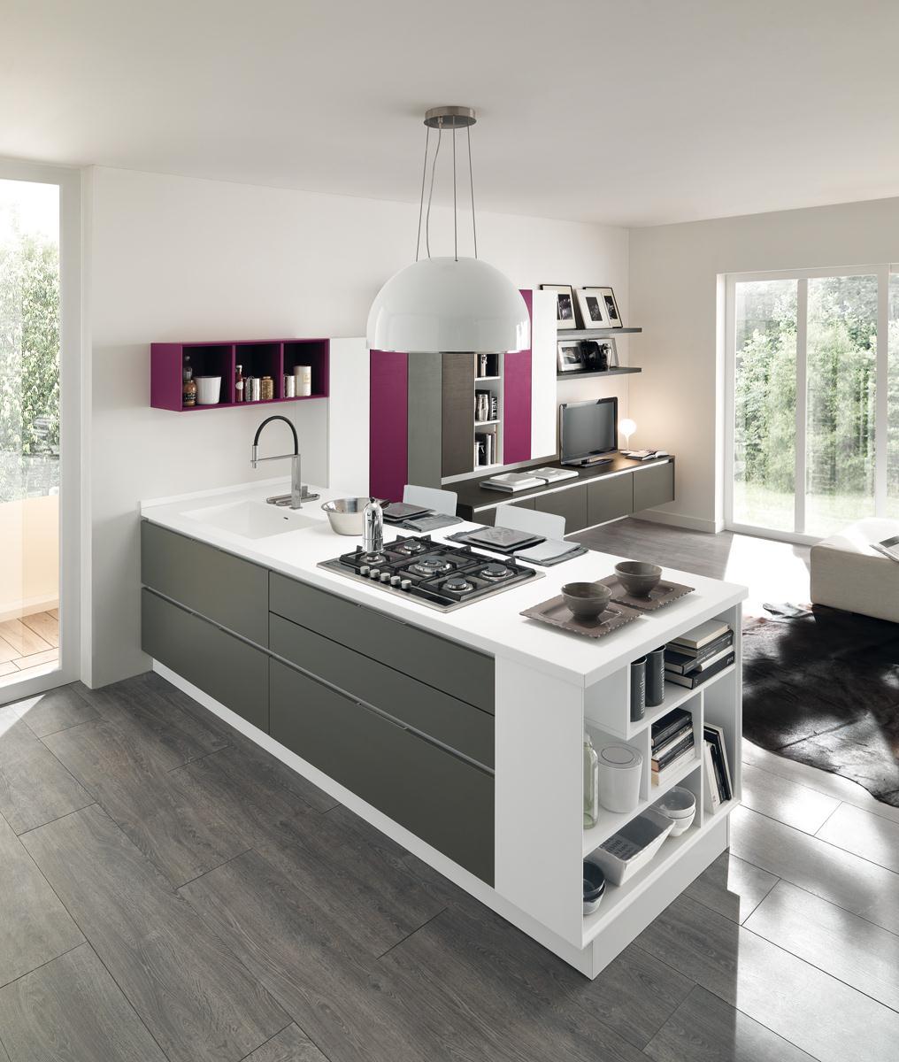 Cucina lube essenza grigiotitanio colori arredamenti papa a comerio va - Marche cucine buone ...