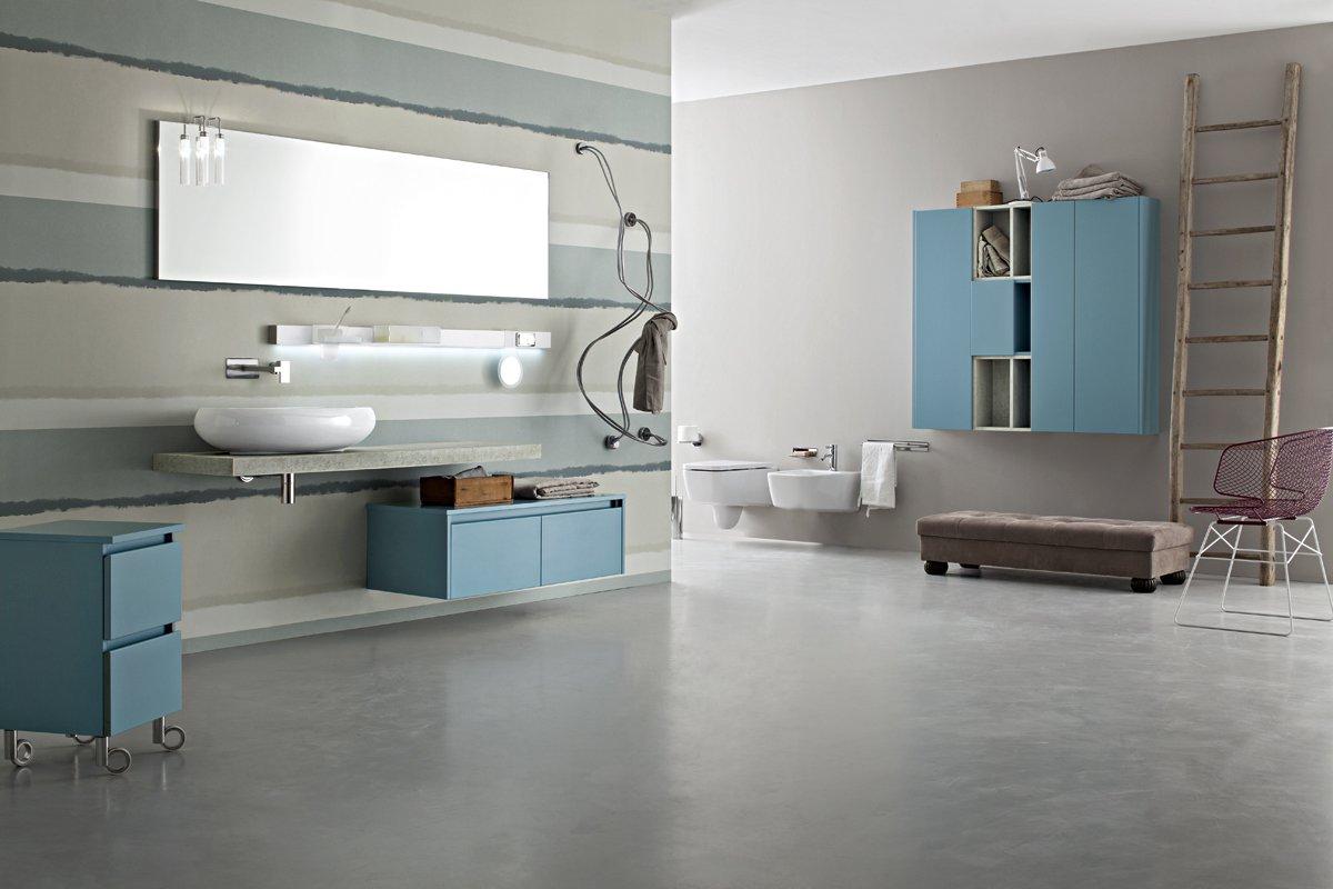 cerasa-mobile bagno azzurro- new joy - Arredamenti Papa a Comerio (Va)