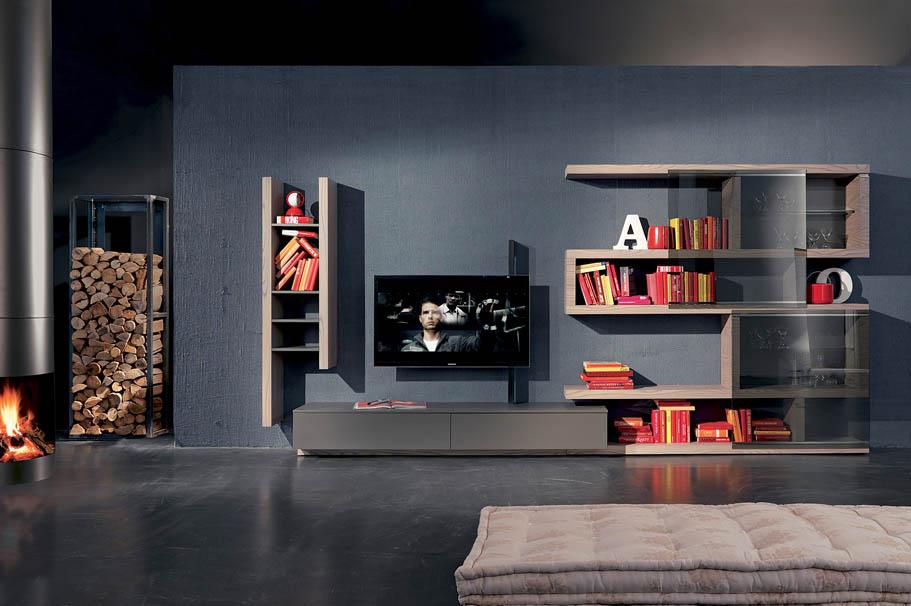 Side system arredamenti papa a comerio va for Parete tv design